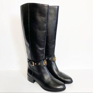 Michael Kors Women's Black Tall Boots Gold 6.5 New